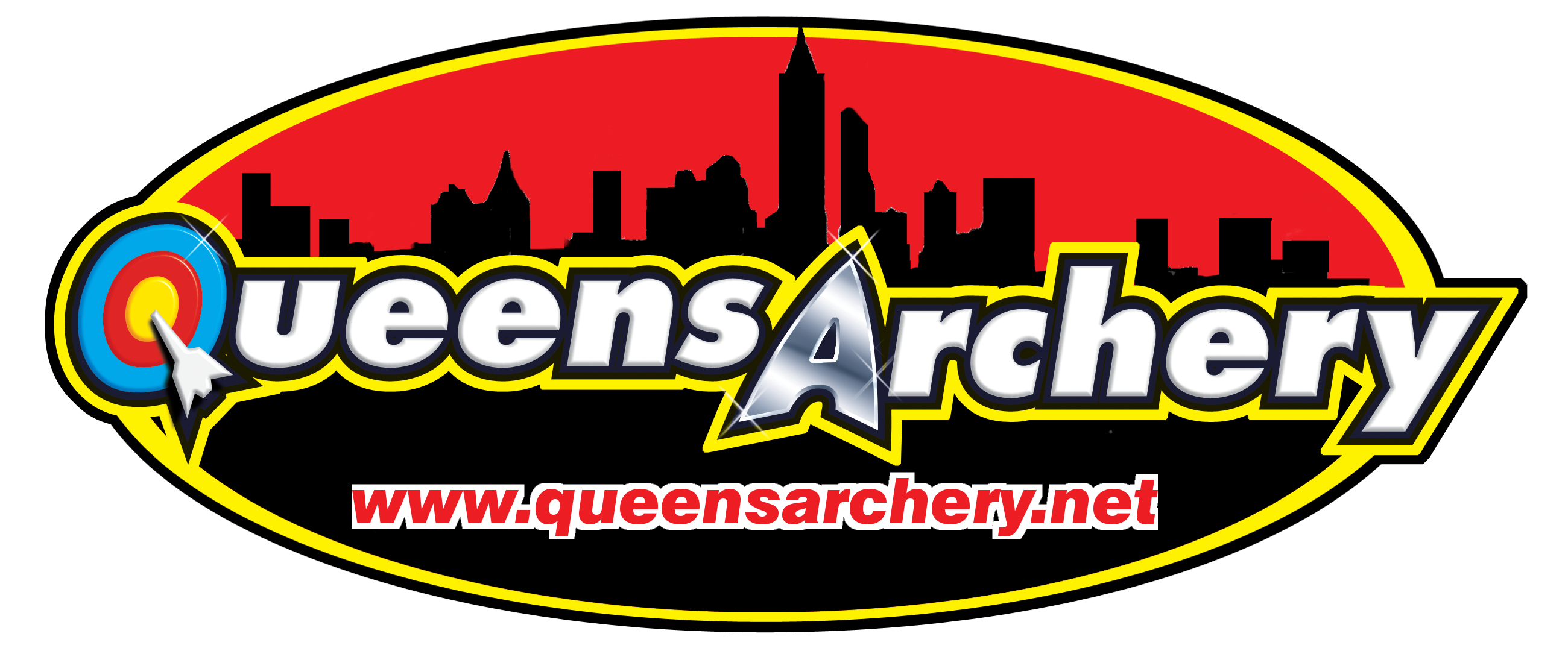 Queens Archery Skyline Logo